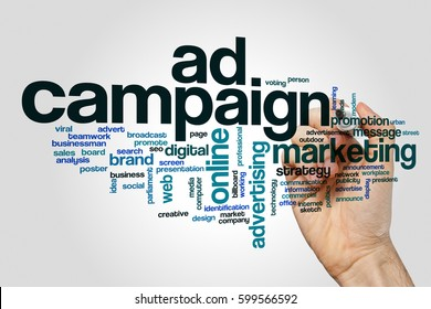 Ad campaign word cloud concept