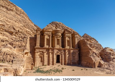 Ad Deir - Monastery in the ancient city of Petra. Petra is the main attraction of Jordan. Petra is included in the UNESCO heritage list.