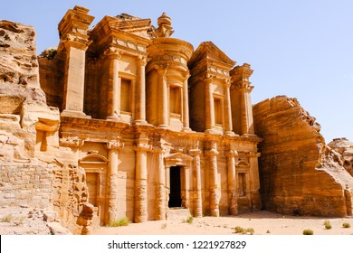 Ad Deir, The Monastery, , also known as El Deir, is a monumental building carved out of rock in the ancient Jordanian city of Petra