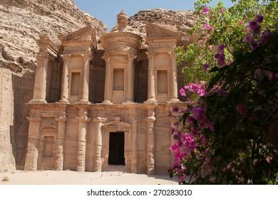 Ad Deir - monumental building in Petra (Jordan)