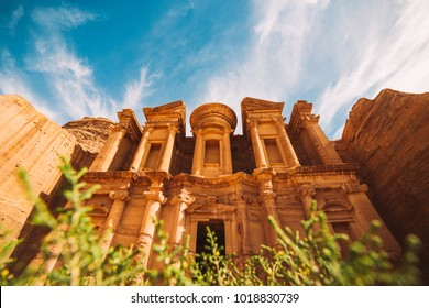 Ad Deir temple. Ancient city of Petra, Jordan