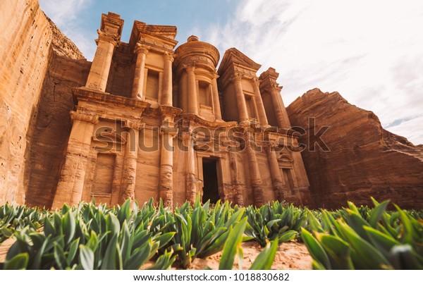 Ad Deir temple. Ancient city of Petra, Jordan
