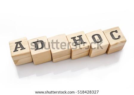 ad hoc word made building blocks stock photo edit now 518428327