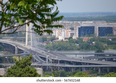 Ada bridge, Belgrade
