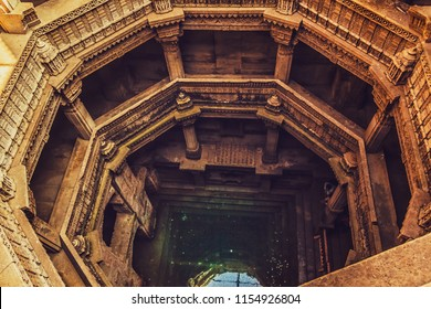 Adalaj, Gujrat, India- November 16,2010 The beautiful Step well of Adalaj ( Adalaj or Rudabai stepwell or baoli ) Near Ahmadabad