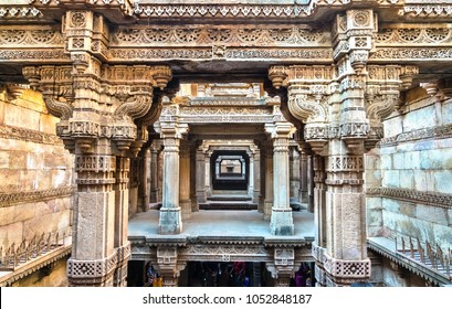 Adalaj or Rudabai Stepwell in Adalaj village near Ahmedabad - Gujarat State of India