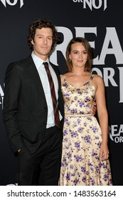 Adam Brody and Leighton Meester at the Los Angeles screening of 'Ready Or Not' held at the ArcLight Cinemas in Culver City, USA on August 19, 2019.