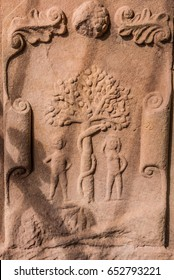 Adam and Eve in Dryburgh Abbey Scotland