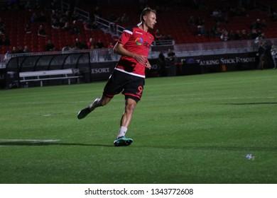 Adam Jahn forward for Phoenix Rising FC at Phoenix Rising Soccer Complex in Phoenix,AZ/USA March 16,2019.