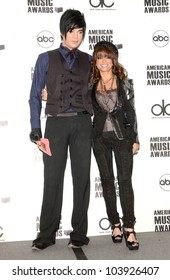 Adam Lambert and Paula Abdul at the 2009 American Music Awards Nomination Announcements. Beverly Hills Hotel, Beverly Hills, CA. 10-13-09