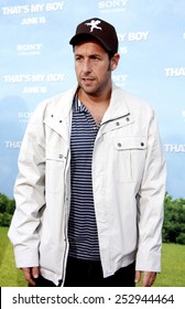 "Adam Sandler at the Los Angeles premiere of ""That's My Boy"" held at the Westwood Village Theater in Los Angeles, California, United States on June 4, 2012."