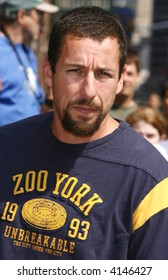 Adam Sandler stops by The Late Show With David Letterman at The Ed Sullivan Theatre on July 17, 2007 in New York City.