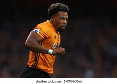 Adama Traore of Wolverhampton Wanderers - Arsenal v Wolverhampton Wanderers, Premier League, Emirates Stadium, London, UK - 2nd November 2019