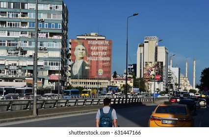ADANA, TURKEY - APRIL 20, 2017: General images from the city center of Adana