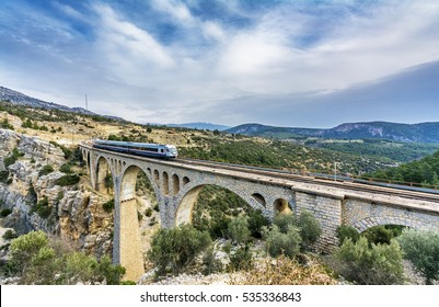 Adana, Turkey - January 15, 2015 : Varda Bridge view in Adana. Last James Bond movie filmed on this bridge in Turkey