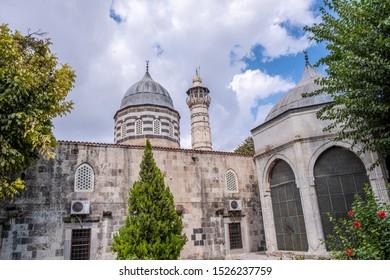 Adana, Turkey - October, 2019: Ulu (Ulu Camii) Mosque in Adana, Turkey.