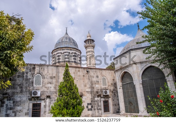 Adana, Turkey - October, 2019: Ulu (Ulu Camii) Mosque in Adana, Turkey.