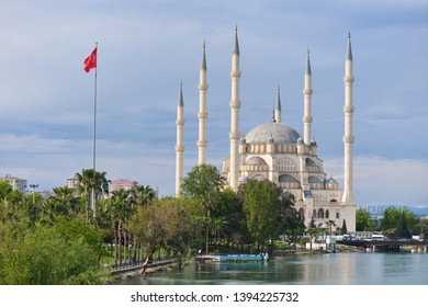 Adana, Turkey - Sabanci Mosque in springtime