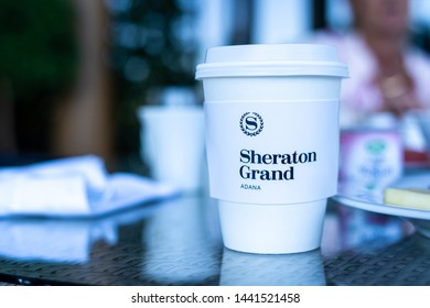 Adana/Turkey - July-2019 - Grand Sheraton Hotel branch - Coffee Mug Drinking Chain
