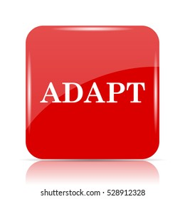 Adapt icon. Adapt website button on white background.