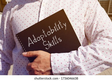 Adaptability Skills is shown on the conceptual business photo