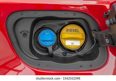 Adblue Diesel exhaust fluid fuel tank cap