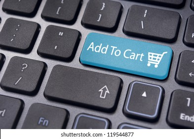 Add to cart button, for e-commerce shopping card concepts.