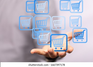 Add To Cart Internet Web Store Buy Online E-Commerce concept