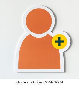Add friend social media icon