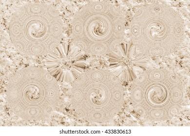 Add a pattern on a piece of granite.