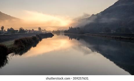 Adda river: sunrise