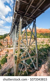 Added to the National Register of Historic Places in 1989, the W.W. Midgley Bridge takes Arizona State Highway 89 over Wilson Canyon near the town of Sedona.