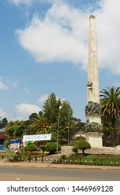 Addis Ababa, Ethiopia - January 18, 2010: Yekatit 12 monument in Addis Ababa, Ethiopia.