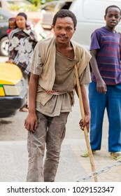 Addis Ababa, Ethiopia, January 27, 2014, Man posing for a photo on the street
