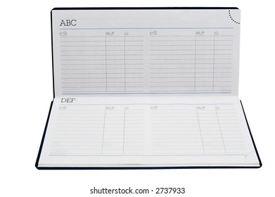 address book opened blank pages stock photo edit now 2737933