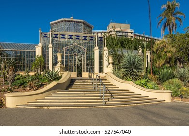 Adelaide Australia 17 May 2015 Adelaide Botanical Gardens has a beautiful and fully restored Victorian Glasshouse first opened in 1877