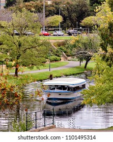 Adelaide, Australia. Circa May 2005. View of Adelaide cruise boat sailing in river Torrens.