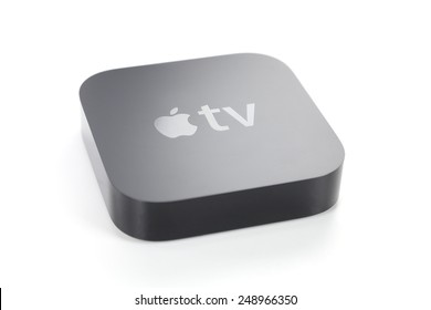 Adelaide, Australia - January 27, 2015: View of a third generation Apple TV. It is a digital media player developed by Apple Inc