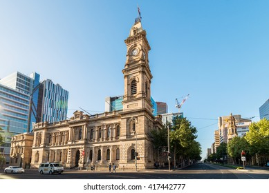 Adelaide, Australia - January 3, 2016: Adelaide GPO Post Shop with tower bell located at Victoria Square in Adelaide CBD. Australia Post provides postal services in Australia