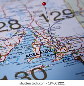 Adelaide  in Australia in the map