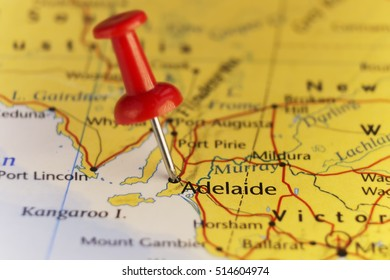 Adelaide Australia, map, home of F1 Grand Prix. Copy space available.