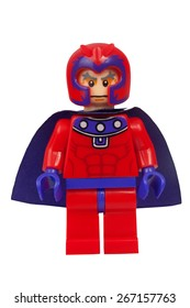 ADELAIDE, AUSTRALIA - March 27 2015:A studio shot of a Magento Custom Lego minifigure from the Marvel Comics. Lego is extremely popular worldwide with children and collectors.