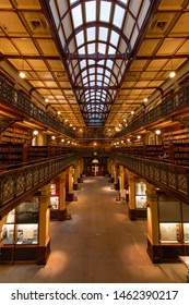 Adelaide, Australia - May 14, 2019: Mortlock Wing view at State Library of South Australia.