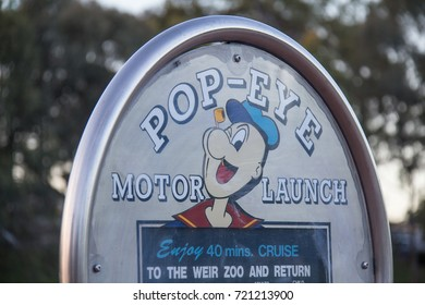 ADELAIDE, AUSTRALIA - November 2016: The Popeye cruise boat on the Torrens Lake in Adelaide. A popular tourist attraction which takes visitors on cruises on the Torrens Lake.