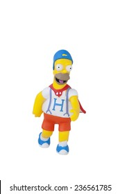 ADELAIDE, AUSTRALIA - November 24 2014:A studio shot of a Dancing Homer Simpson Figurine from the animated series The Simpsons. The Simpson is a popular worldwide TV Series.