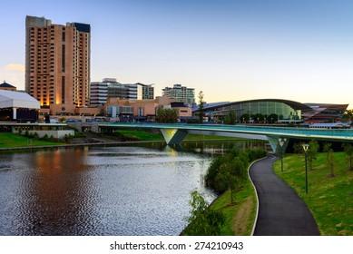 Adelaide City Business District, Riverbank Bridge across Torrens River