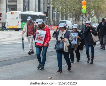 Adelaide, SA, Australia - May 21, 2018: South Australians march in Adelaide's CBD during National Volunteer Week to acknowledge the contribution that volunteers make to society.