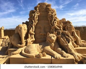 Adelaide Sand Sculpture of Animals