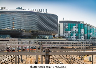 Adelaide, South Australia - 03 January 2016: SAHMRI and New Royal Adelaide Hospital. NewRAH is currently under construction and will provide world class health care service for South Australia