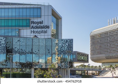 Adelaide South Australia 21 May 2016 ,  The Royal Adelaide Hospital is located along the tram lines of the city's CBD